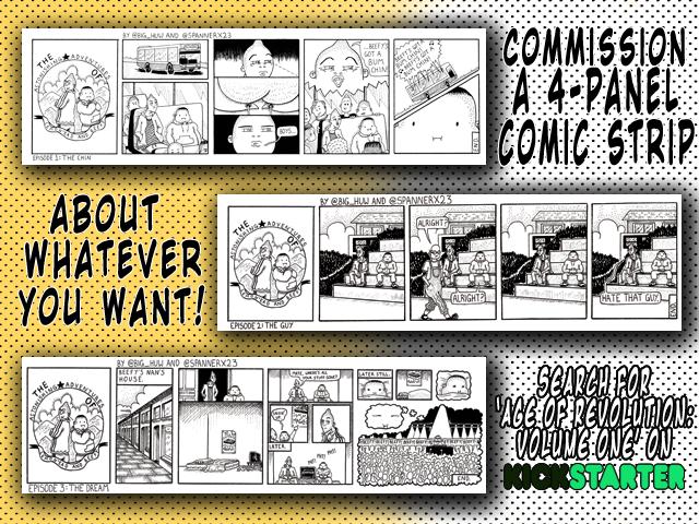 Kickstarter age of revolution new reward tier comic strip commission cosmic anvil