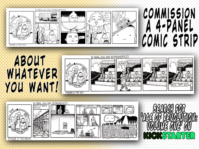 Kickstarter age of revolution new reward tier comic strip commission cosmic anvil