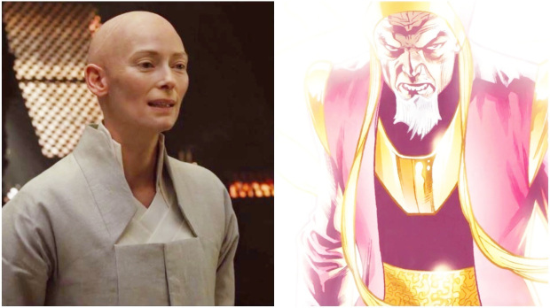 Tilda Swinton as 'The Ancient One' in 'Doctor Strange'
