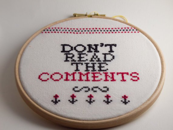 Don't Read The Comments Cross-Stitch