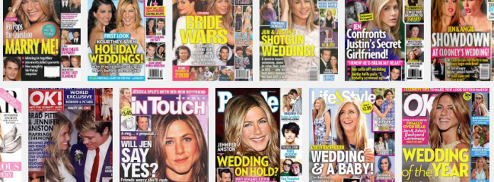 Jennifer Aniston magazine covers
